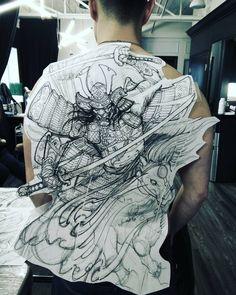 Here we go! #samurai #tattoo #chronicink #asianink #irezumi #asiantattoo