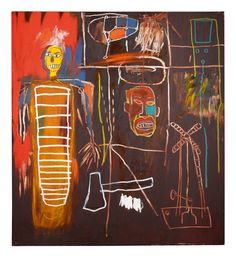 """Jean-Michel Basquiat, """"Air Power"""" (1984), vendu pour £ 2.5-3.5m (~ $ 3.3-4.7m USD) (toutes les images sont gracieuseté de Sotheby's)"""