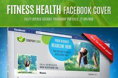 Fitness health facebook cover by EngoCreative.com on @creativemarket Business Brochure, Business Card Logo, Facebook News, Cover Template, Slim Body, Health And Fitness Tips, Website Template, Web Design, Company Logo