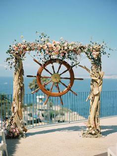unique beach wedding arch ideas