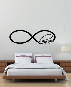 Infinity Love Symbol Wall Decal Decor Art Vinyl Quote on Etsy, $24.99