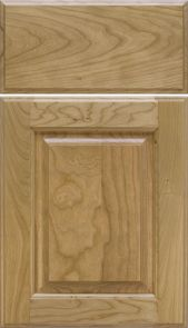Natural Cherry Door with a Slope Raised Panel [Inside: Bead / Outside: Half Shoulder Profiles] M and J Woodcrafts - Your Wholesale Cabinet Door Manufacturers