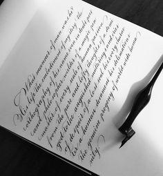 Skill Development Through Handwriting Handwriting Examples, Handwriting Styles, Calligraphy Handwriting, Penmanship, Calligraphy Fonts Alphabet, Hand Lettering Alphabet, How To Write Calligraphy, Typography, Modern Caligraphy