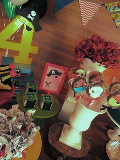 Jake and the Neverland Pirates birthday party! See more party planning ideas at CatchMyParty.com!
