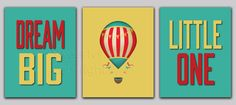 Child's Dream Big Little One Hot Air Balloon 3 by SweetIvyDesigns, $25.00