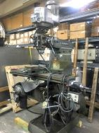 "58190 - Bridgeport Series 1 Vertical Milling Machine. This is a Bridgeport Series 1 Vertical Milling Machine. It is 2 HP, variable speed, 1 head, 220 volt, 30 amp with a 48"" table..  Included with this sale are a variety of collets. See photo that shows box of accessories.."