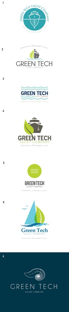 Green Tech Yacht Company | DesAutels Designs | logo exploration