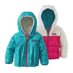 Baby & Toddler Outdoor Jackets & Vests by Patagonia. BABY REVERSIBLE HONEY  PUFF HOODY ...