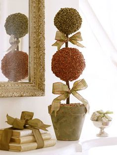 Holiday Topiaries in Good Taste: Turn Food Ingredients into Beautiful Decorations