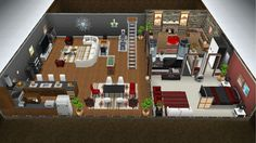 Lovers Retreat - a quaint getaway for lovers - front view basement floor - in my Sims Freeplay