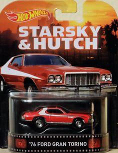1976 Ford Grand Torino Starsky & Hutch 1:64 Hot Wheels CFR34 Retro…