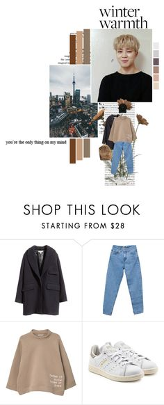 """Mind"" by xxjay-gxx ❤ liked on Polyvore featuring Oris, GET LOST, H&M, Pull&Bear, MANGO, StyleNanda, adidas Originals, bts, jimin and BTS_Jimin"