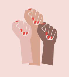 For All Womankind Illustration Poster // Feminist Art Prints from Independent Artists for International Women's Day // Wish List Feminism Feminist Art, Feminist Books, Grafik Design, Ladies Day, Women Day, Vanity Fair, Women Empowerment, Illustrations, Words