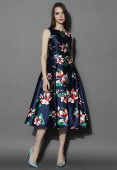 0de184c5667 Romantic Era Floral Prom Dress - Party - Dress - Retro