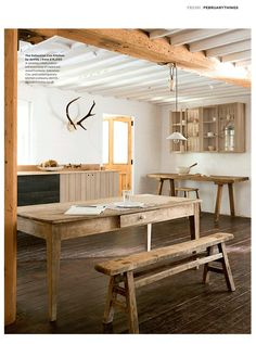 The February 2017 issue of The Simple Things magazine did a lovely feature on our London Showroom Sebastian Cox by deVOL kitchen.