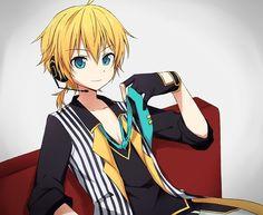 Artist: スだち Vocaloid Len, Kaito, Simple Anime, Holy Lance, Me Adora, Lens, Fan Girl, Lentils