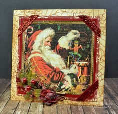 Embellished Dreams: The Stamp Simply Ribbon Store - Graphic 45 St. Nicholas Christmas Card
