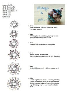 Beaded beads tutorials and patterns, beaded jewelry patterns, wzory bizuterii koralikowej, bizuteria z koralikow - wzory i tutoriale Beaded Beads, Beaded Ornaments, Beaded Rings, Beads And Wire, Jewelry Making Tutorials, Beading Tutorials, Bijoux Wire Wrap, Beading Patterns Free, Beaded Jewelry Designs