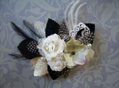 black silver white prom corsages - Google Search