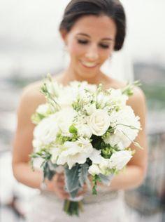 Modern all-white bouquet