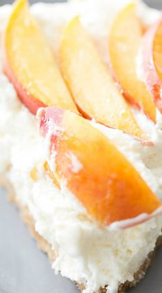 Fresh Peach Pie ~ Starts with a shortbread crust that is topped with a ...