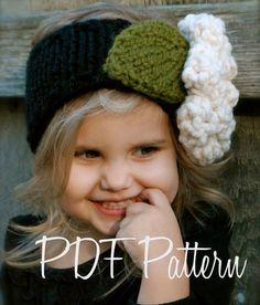 Knitting PATTERNThe Rowynn Warmer Toddler Child por Thevelvetacorn