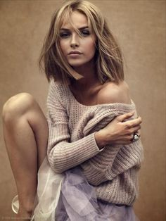 Chunky knit jumper with delicate tulle skirt - love this x