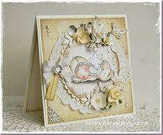 Sleeping baby Tilda, Cozy Family collection, Magnolia stamps