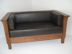 Mission Arts & Crafts Prairie Stickley style Settle Loveseat Leather New. $1,649.00, via Etsy.