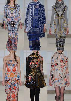 London Fashion Week – Autumn/Winter 2014/2015 – Print Highlights – Part 2 catwalks  Temperley London