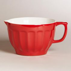 Our bright and decorative Red Melamine Batter Bowl is sure to light up your table with its sweet design. >> #WorldMarket Valentine's Day!
