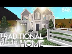 Traditional Family Home Two Story House Design, Unique House Design, Dream House Exterior, Exterior House Colors, House Exteriors, Hillside House, Family House Plans, Cute House, House Blueprints