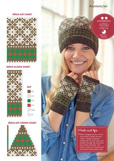 Crochet Mittens, Mittens Pattern, Crochet Gloves, Knit Crochet, Knitting Charts, Knitting Patterns Free, Baby Knitting, Fingerless Gloves Knitted, Knitted Hats