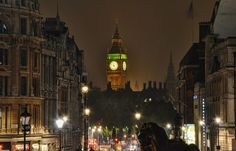 The Big Ben from Trafalgar square in High Dynamic Range. www.runningronin.com