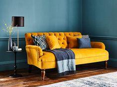 The Wishford Sofa Classic Living Room, Mid Century Modern Living Room, Living Room Grey, Living Room Chairs, Home Living Room, Mustard Living Rooms, Craftsman Living Rooms, Art Deco Living Room, Living Room Upholstery