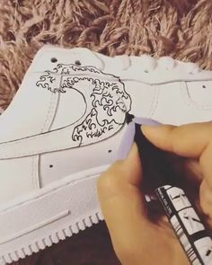 Crepped, custom Nike Air Force 1 sneakers made by professional artists. All our sneakers are made with care. Custom Painted Shoes, Custom Shoes, Custom Clothing, Custom Af1, Nike Custom, Nike Shoes Air Force, Nike Air Force 1 Outfit, Air Jordan Shoes, Painted Sneakers