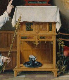 Joos van Cleve (Netherlandish, Cleve ca. 1485–1540/41 Antwerp), ca. 1525 Annunciation, detail