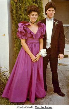 80s-prom-dress-ruffles.  The Princess Di Wedding Dress influence was HUGE in the 80's.  Why?  Her fairy tale wedding gown was the most beautiful E.V.E.R.