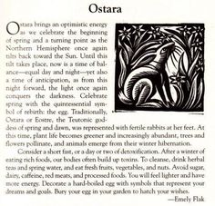 Ostara  - Pinned by The Mystic's Emporium on Etsy
