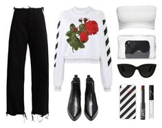 """OFF - WHITE"" by baludna ❤ liked on Polyvore featuring Off-White, Marques'Almeida, NARS Cosmetics, 3.1 Phillip Lim and Quay"