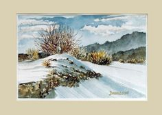 """snow watercolor paintings 