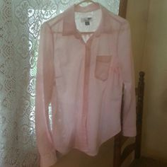 Old Navy Blouse New button down light pink blouse by Old Navy Old Navy  Tops Button Down Shirts