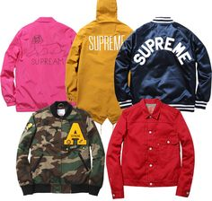 Supreme jackets (Spring/Summer 2013)