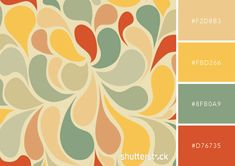 Vintage styles and color palettes are always making a comeback. Transform the look and feel of your designs with these 25 free retro color combinations. Vintage and… Vintage Colour Palette, Colour Pallette, Color Palate, Colour Schemes, Vintage Colors, Retro Colours, Palettes Color, Vintage Color Schemes, Color Combinations