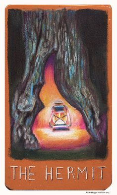 Next stop on The Raven Cycle #TarotTour is at ForeverYoungAdult.com. See Maggie Stiefvater's artwork for THE HERMIT, plus another opportunity to win the Major Arcana Tarot Deck for yourself! #BlueLily #TarotTour