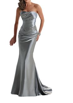 2c440e9172b CCHAPPINESS Women s Floor Length Strapless Evening Party Bridesmaid Dresses  at Amazon Women s Clothing store