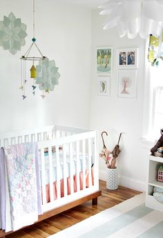 love, love, love this green, blue and gray nursery