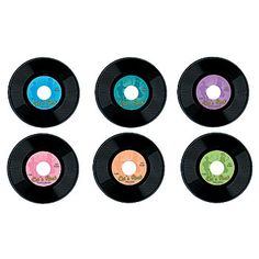 Rock to the oldies with this our plastic records. Each plastic record is printed on both sides. Choose from two great sizes - 9 inch or 19 inch.
