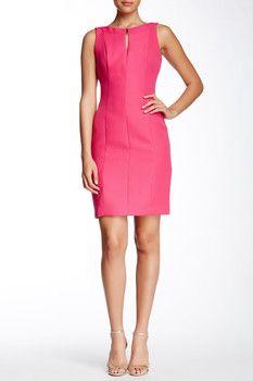 85934bb688d Tahari Sleeveless Jacquard Sheath Dress Top Designer Brands