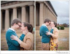 Melanie Grady Engagement Photography - The Parthenon - Centennial Park Nashville - Engagement Session